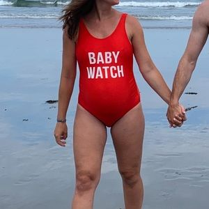 Baby Watch One Piece Maternity Swimsuit